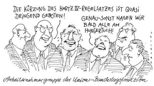 Cartoon: die abstandhalter (medium) by Andreas Prüstel tagged abgeordnete,bundestag,cdu,csu,hartz,iv,abgeordnete,bundestag,cdu,csu,hartz,iv,arbeit,job,arbeitslosigkeit,arbeitslos