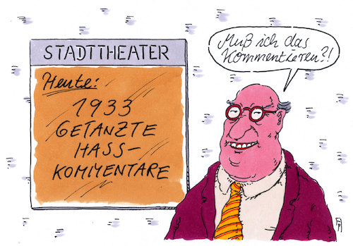 Cartoon: getanzt (medium) by Andreas Prüstel tagged internet,hasskommentare,theater,tanz,cartoon,karikatur,andreas,pruestel,internet,hasskommentare,theater,tanz,cartoon,karikatur,andreas,pruestel