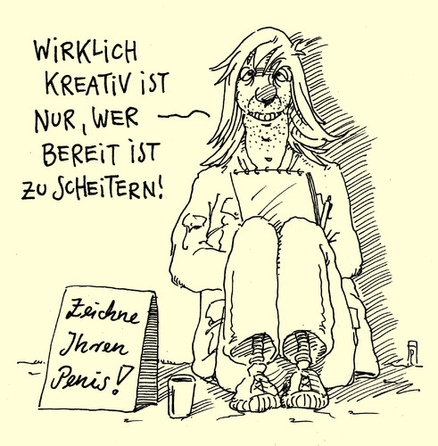 Cartoon: kreativ (medium) by Andreas Prüstel tagged kreativität,scheitern,zeichnen,cartoon,karikatur,andreas,pruestel,kreativität,scheitern,zeichnen,penis,cartoon,karikatur,andreas,pruestel