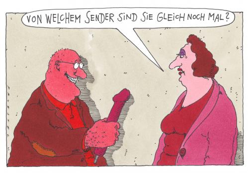 Cartoon: sender (medium) by Andreas Prüstel tagged interview,dildo