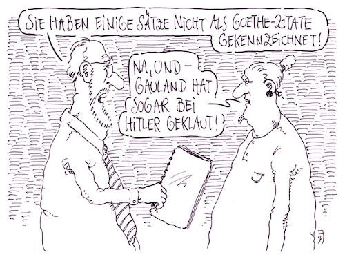 Cartoon: zitate (medium) by Andreas Prüstel tagged afd,gauland,hitlerrede,zitate,goethe,cartoon,karikatur,andreas,pruestel,afd,gauland,hitlerrede,zitate,goethe,cartoon,karikatur,andreas,pruestel