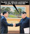 Cartoon: ... (small) by Andreas Prüstel tagged nordkorea,südkorea,vereinigung,kim,jong,un,moon,cartoon,collage,andreas,pruestel