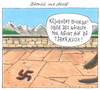 Cartoon: blondie und adolf (small) by Andreas Prüstel tagged hitler,blondie,schäferhund,obersalzberg,berghof