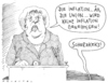 Cartoon: böses iwort (small) by Andreas Prüstel tagged euroschwäche,inflation,merkel,union