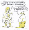 Cartoon: disproportion (small) by Andreas Prüstel tagged alterung,schrumpfung,ärztin,patient