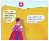 Cartoon: heidi schweiz (small) by Andreas Prüstel tagged schweiz,referendum,einwanderungsbeschränkung,zuwanderung,heidi,schweizer,käse,cartoon,karikatur,andreas,pruestel