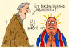 Cartoon: heiland (small) by Andreas Prüstel tagged uli,hoeneß,haftentlassung,steuerschuldner,fc,bayern,münchen,heiland,cartoon,karikatur,andreas,pruestel