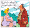 Cartoon: im park (small) by Andreas Prüstel tagged begegnung,park,parkbank,mann,frau
