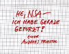Cartoon: ja auch wichtig! (small) by Andreas Prüstel tagged nsa,geheimdienst,usa,cartoon,andreas,pruestel