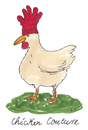 Cartoon: mode (small) by Andreas Prüstel tagged haurecouture huhn handschuh landwirtschaft