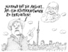 Cartoon: o.t. (small) by Andreas Prüstel tagged merkel,cdu,atomkraft,ulbricht,berliner,mauer