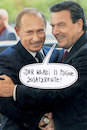 Cartoon: rentner (small) by Andreas Prüstel tagged putin,schröder,rosneft,zusatzrente,cartoon,collage,andreas,pruestel