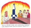 Cartoon: retro (small) by Andreas Prüstel tagged silvester,hölle,teufel,wunderwaffe,v2,hitler,stalin,freisler