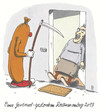 Cartoon: rosenmontag (small) by Andreas Prüstel tagged karneval,rosenmontag,tod,oma,cartoon,karikatur,andreas,pruestel