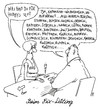 Cartoon: speed-dating (small) by Andreas Prüstel tagged kennenlernen,singles,speeddating,geschlechtsverkehr,synonyme,hobbys,cartoon,karikatur,andreas,pruestel