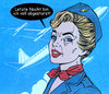 Cartoon: stewardess (small) by Andreas Prüstel tagged flugwesen,stewardess,absturz,cartoon,collage,andreas,pruestel