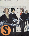 Cartoon: super-group (small) by Andreas Prüstel tagged beatles,mozart,wagner,beethoven,bach