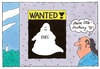 Cartoon: wanted (small) by Andreas Prüstel tagged ehec,infektion,erreger,suche