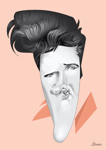 Cartoon: Elvis Presley (medium) by Ulisses-araujo tagged elvis,presley