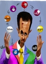 Cartoon: Bashar Alassad (small) by handren khoshnaw tagged handren,khoshnaw