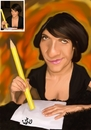 Cartoon: florence foresti (small) by handren khoshnaw tagged handren khoshnaw florence foresti france actress comedian