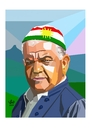 Cartoon: Hameed Bedirxan (small) by handren khoshnaw tagged handren khoshnaw
