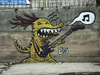 Cartoon: dragon bass (small) by ernesto guerrero tagged mural,street,art,graffit