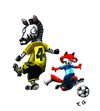 Cartoon: futbol!!! (small) by ernesto guerrero tagged futbol,animals,naturaleza