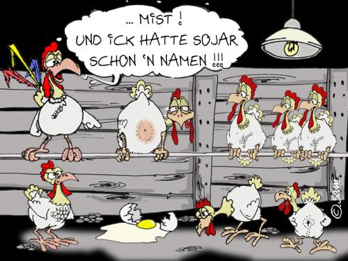 Cartoon: namenswahl (medium) by sam tagged charackter,catoon,frau,mann,home,beziehung,bunt,woman,man