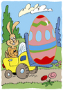 Cartoon: Osterhase (small) by astaltoons tagged ostern,hase,osterei