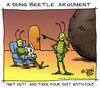 Cartoon: A Dung Beetle Argument (small) by JohnBellArt tagged dung,beetle,argument,bugs,shit,crap,husband,wife,partner,fight,angry,divorce,mad