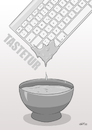 Cartoon: Tastetur (small) by INovumI tagged tastatur,taste,dip,beißen,essen