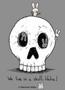 Cartoon: Skull House (small) by sebreg tagged rabbits,skull,silly