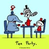 Cartoon: Tea Party. (small) by sebreg tagged elephant,raccoon,silly,tea,party,humor,fun