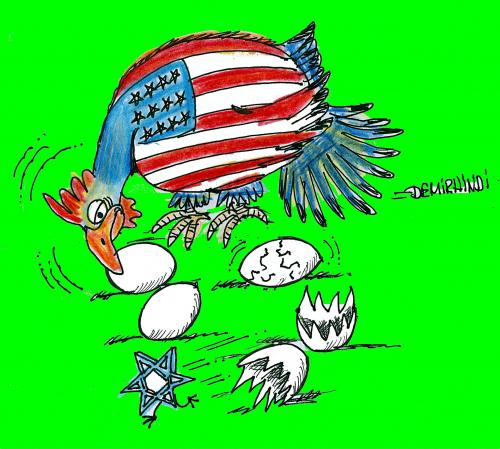 Cartoon: american (medium) by demirhindi tagged demirhindi