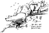 Cartoon: Der Dachs (small) by antonreiser tagged dachs,dax,aktie,aktienkurs,börse