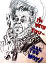 Cartoon: In gun we trust! (small) by Marga Ryne tagged ronald,reagan