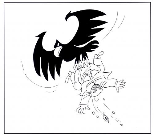 Cartoon: Adler (medium) by Schwalme tagged steuern,abgaben
