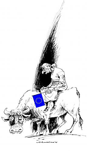 Cartoon: altes Europa (medium) by Reiner Schwalme tagged europa,alter