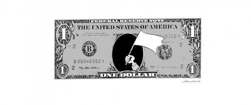 Cartoon: Dollar (medium) by Reiner Schwalme tagged dollar,geld,finanzkrise