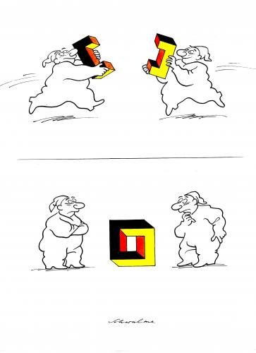 Cartoon: Einheit (medium) by Reiner Schwalme tagged deutschland,einheit,ost,west