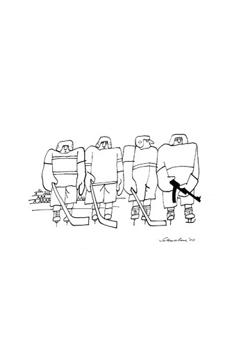 Cartoon: Eishockey (medium) by Reiner Schwalme tagged sport,kampf