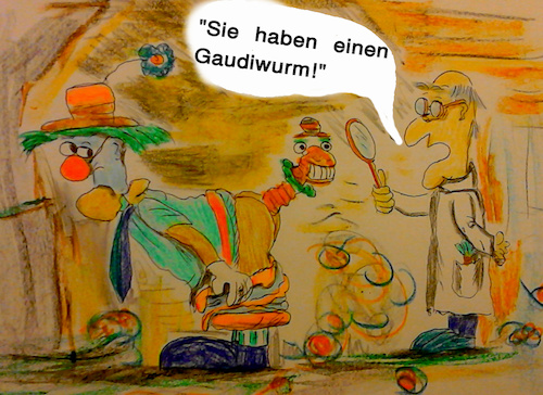 Cartoon: immer nach dem rosenmontagszug (medium) by ab tagged karneval,fasching,kostüm,umzug,maske,tier