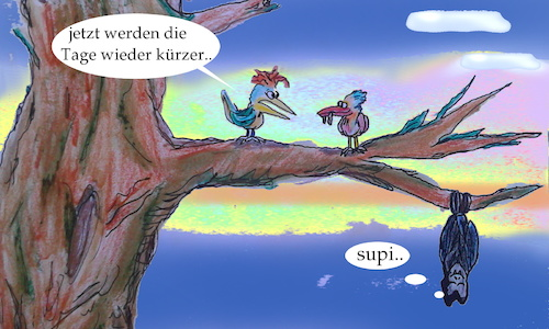 Cartoon: Sommer anfang..? (medium) by ab tagged sommer,sonnwende