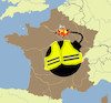 Cartoon: bon weekend (small) by ab tagged france,gilets,jaunes
