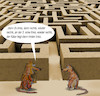 Cartoon: im versuchslabor (small) by ab tagged labyrinth,ratte,versuch,käse