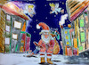 Cartoon: mad santa (small) by ab tagged dezember,nikolaus,santa,claus,kinder,geschenke,sack,pack