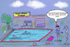 Cartoon: Sommerfun (small) by ab tagged sommer,schwimmen,freibad,action,fun