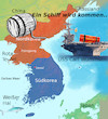 Cartoon: sorgloser sonntag (small) by ab tagged sonntag,usa,nordkorea,uss,carl,vinsen