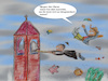 Cartoon: sturm über bayern (small) by ab tagged wetter,wind,orkan